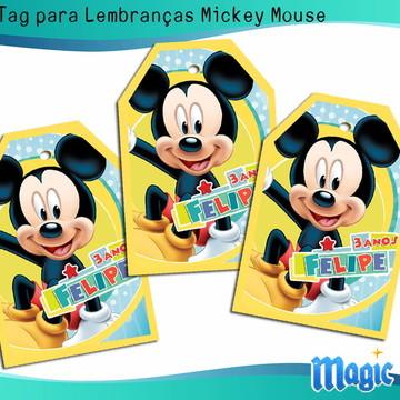 Tag para Lembranças Mickey Mouse