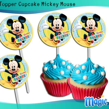 Topper Cupcake Mickey Mouse