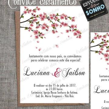 Convite casamento - ARTE DIGITAL