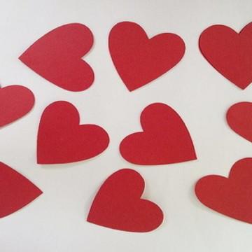 Apliques coração de papel pra decoração