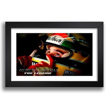 Quadro Decorativo Ayrton Senna 65x45cm Mclaren F1 Loja Sala