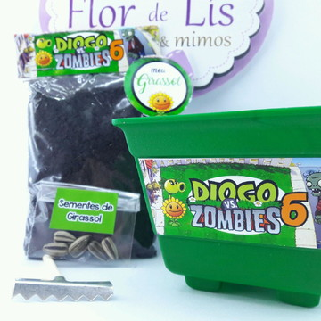 Kit Plantação Plants vs Zombies