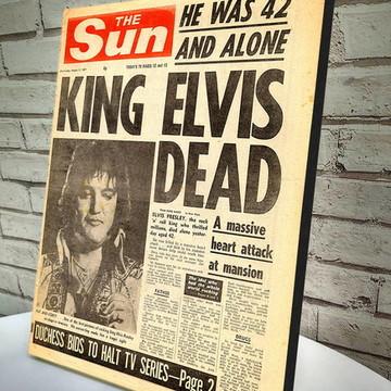 Poster / Quadro A4 Elvis