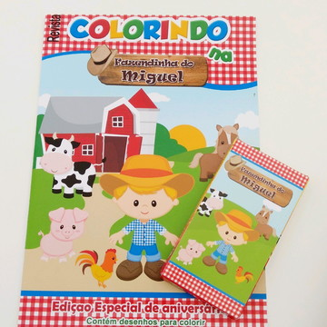 Fazendinha - Kit colorir