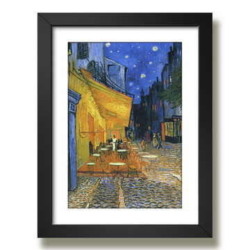 Quadro Terrace Cafe Van Gogh Pintores Famosos Decoracao Sala