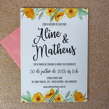 Convite Mod. 2 - Flores Amarela