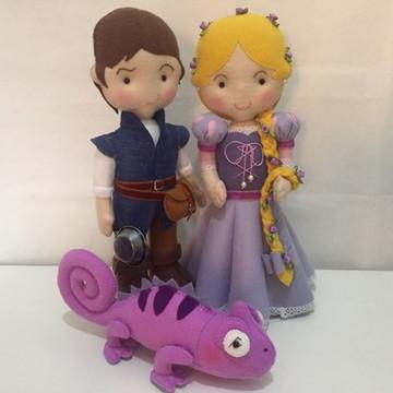 Rapunzel, Flynn e Pascal