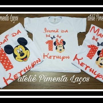 Camisetas Estampadas tema Minnie Mickey