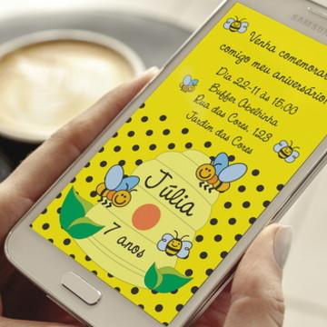 Convite Digital Abelhinha Whatsapp