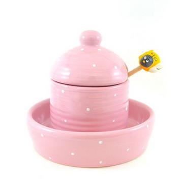 pote de mel rosa poá