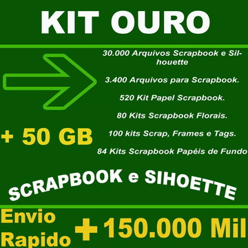 Kit Ouro Scrapbook + Silhouette