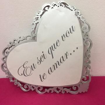 Placa entrada dos noivos casamento prata