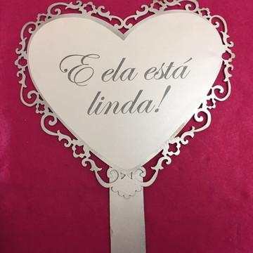 Placa com cabo entrada dos noivos