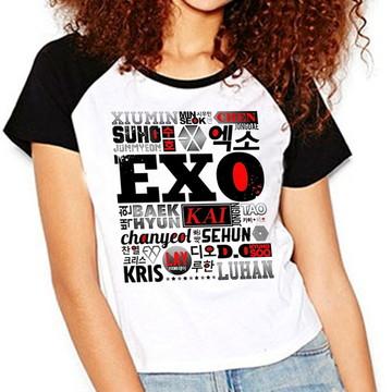 Camiseta Exo Integrantes Kpop Exo-l