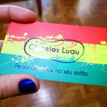 Cartão de visita verniz localizado