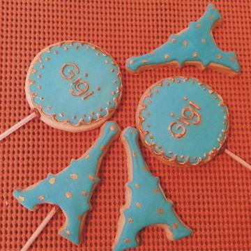 Biscoitos Amanteigados; Tema Paris