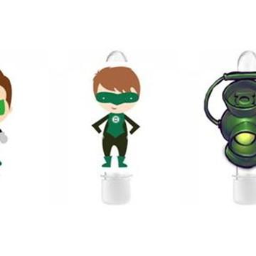 Tubete com Aplique - Lanterna Verde