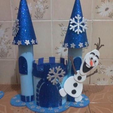 Centro de mesa Frozen Castelinho