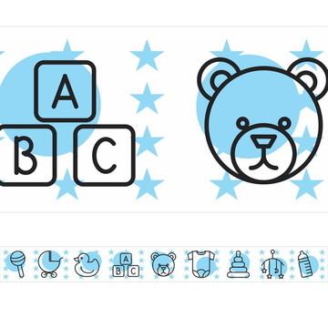 Faixa Para Quarto De Bebê - Ursinho
