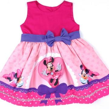 Vestido Minnie Rosa Arco 1-6 anos