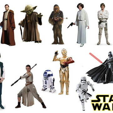 Aplique para tubete Star Wars