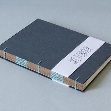 Caderno   Sketchbook A5 AQUARELA AZUL