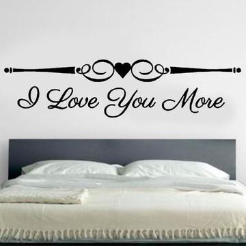 Adesivo Cabeceira I Love You G 195x48cm