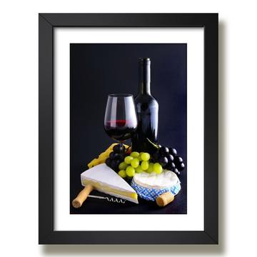 Quadro Copa Vinho Decorativo F29