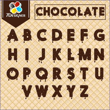 Alfabeto Chocolate - Kit Digital #2