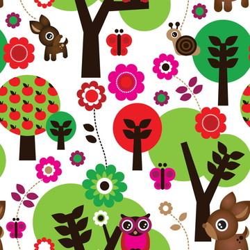 Papel de Parede Baby Floresta Encantada