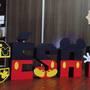 Letras 3D Mickey