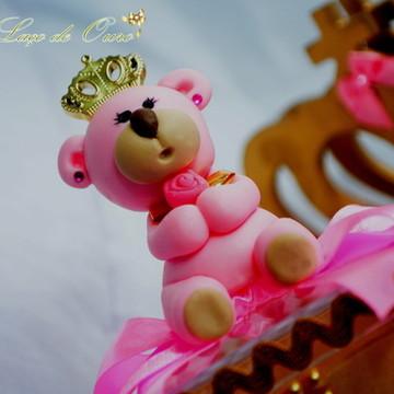 Aplique de biscuit Princesa urso