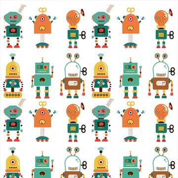 Papel de Parede Infantil robozinhos