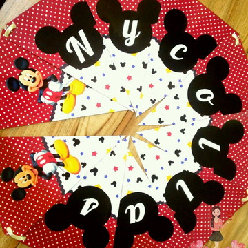 Bandeirola Mickey