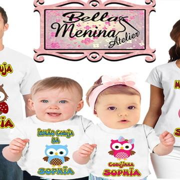Kit 4 Camiseta Abelhinha