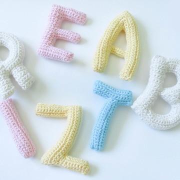 Letras em crochê