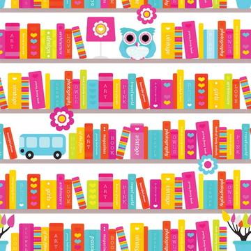 Papel de Parede Infantil Livraria