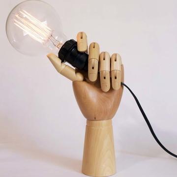Luminária mão articulável