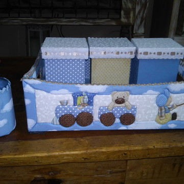 kit higiene menino azul