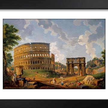 Quadro Coliseu Roma Italia Pintores Famosos Arte Decoracao