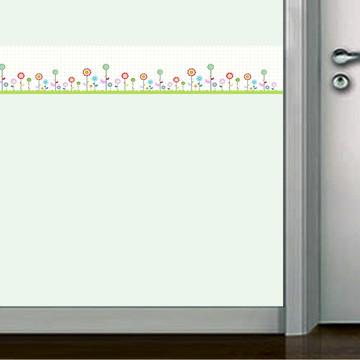 Faixa decorativa de parede florzinhas