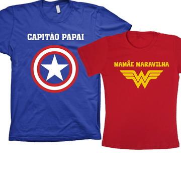 Kit Capitão América e Mulher Maravilha