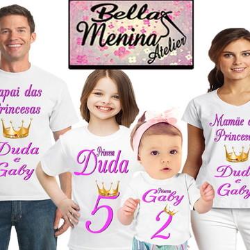 Kit 4 Camiseta Princesa