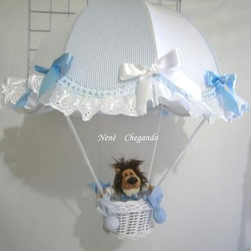 Lustre paraquedas pendente infantil bebê