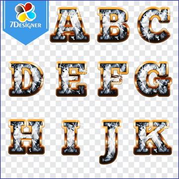 Alfabeto Diamante - Kit Digital #5