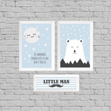 Kit quadro infantil little man