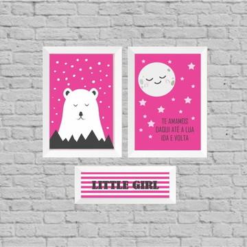 Kit quadro infantil little girl
