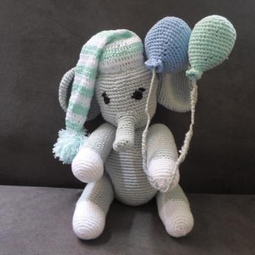 Elefantinho em crochê - amigurumi