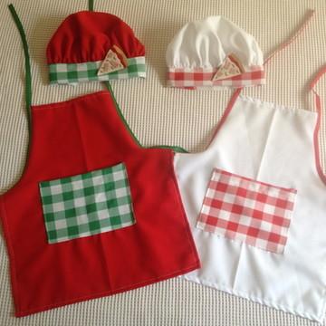 Avental e chapéu Chef Pizzaria