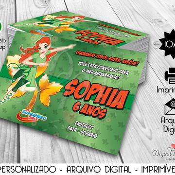 Convite Digital Super Hero Girls